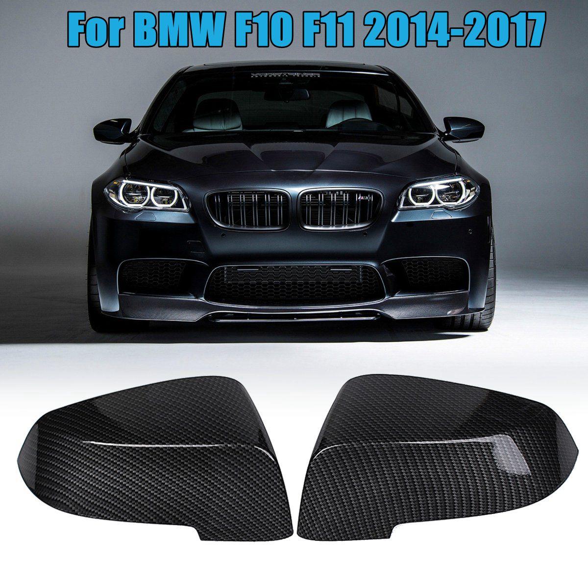 1 пара углеродного волокна крыло Замена Зеркало заднего вида крышка Кепки для BMW F10 F11 2014 2015 2016 2017
