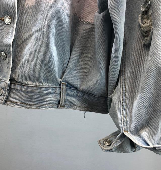 Manteau Filles Bleu De Veste Marque Court Outwea Déchiré Denim 2019 Jeans Impression Trous Graffiti Femmes Mode Femelle Nouvelle IwZTSxxF