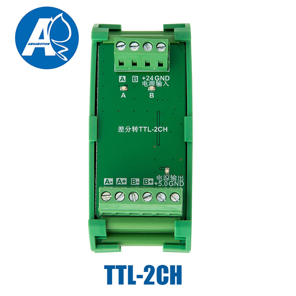 2 3 4 canaux convertisseur différentiel TTL dans le collecteur HTL signaux borniers plaque PLC NPN & PNP TTL-2/3/4CH - 2