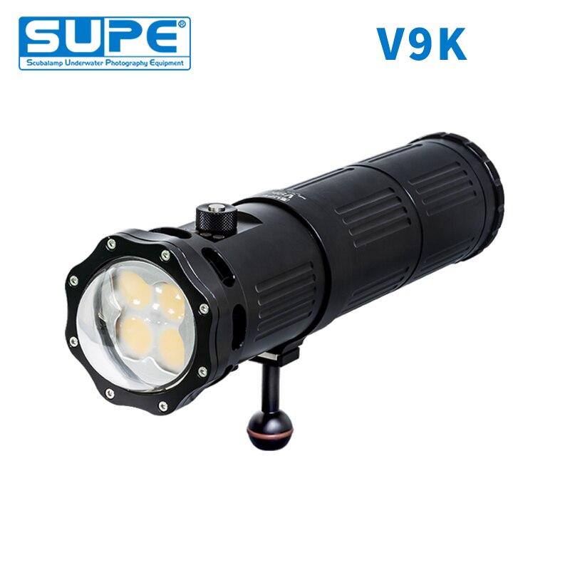 Lumière sous-marine de plongée sous-marine SUPE SCUBALAMP V9K 18000 Lumens