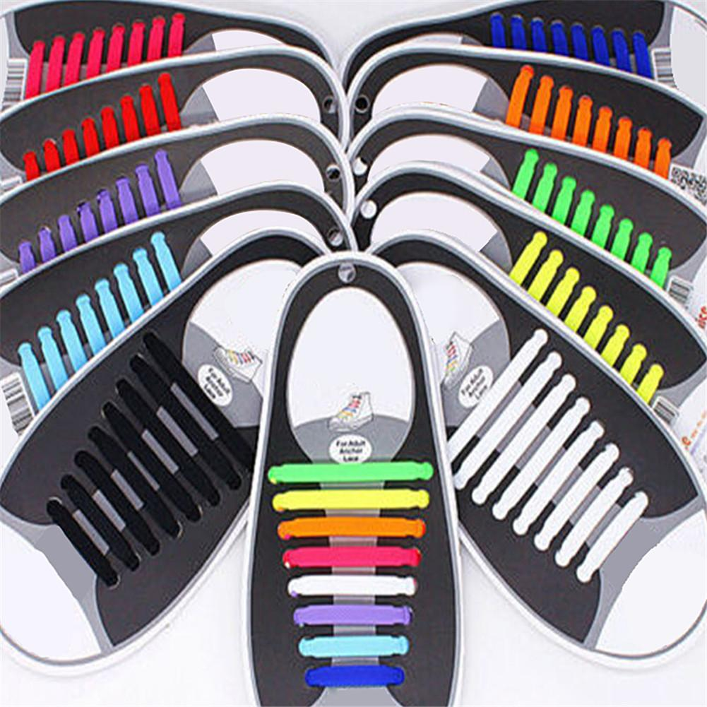 Lazy Elastic Silicone Lace No Tying Shoe Laces Running Tennis Shoes Hot Ropes Shoes Accessories For Men Women