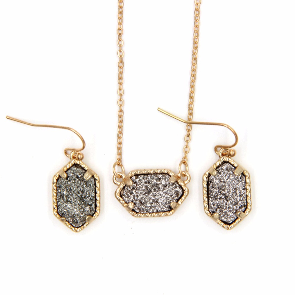 earrings set iridescent and triangle s amp claire statement necklace