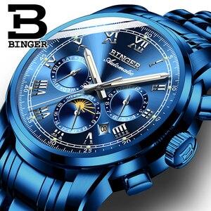 Image 5 - سويسرا التلقائي ساعة ميكانيكية الرجال Binger العلامة التجارية الفاخرة رجالي الساعات الياقوت ساعة مقاوم للماء relogio masculino B1178 8