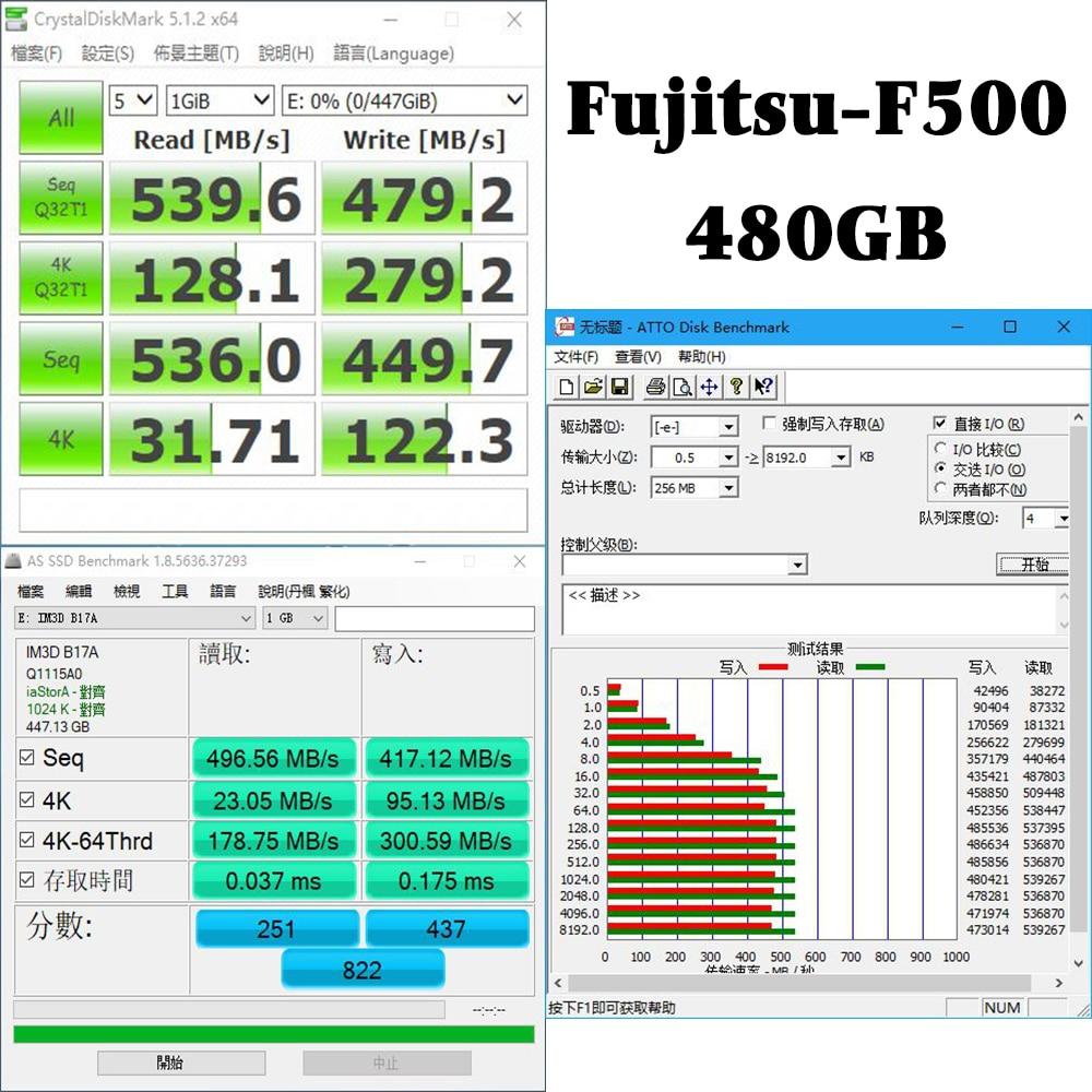 FUJITSU ssd 240 gb 2.5inch 120 gb 480GB SATA 6Gb/s TLC Read/Write Speed 500MB/s 3year warranty Solid State Drives for PC laptop 5
