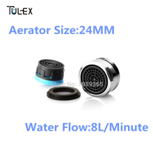 Special offer Water Saving Faucet Aerator 8L Crane Nozzle Attachment Spout Bubbler Tap Filter Accessories Male Thread 24MM