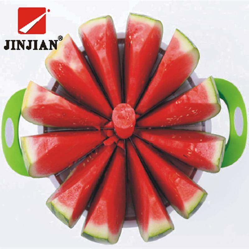 JINJIAN Kitchen Practical Tools Creative Watermelon Slicer Melon Cutter Knife 410 Stainless Steel Fruit Cutting Slicer