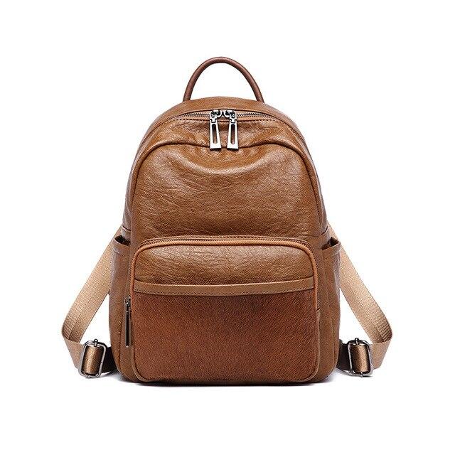 Fashion Multifunctional Women Backpacks Leather Shoulder Bags Large Travel  Backpack Black Mochila Feminina School Casual C596 3dfad99dd77d0