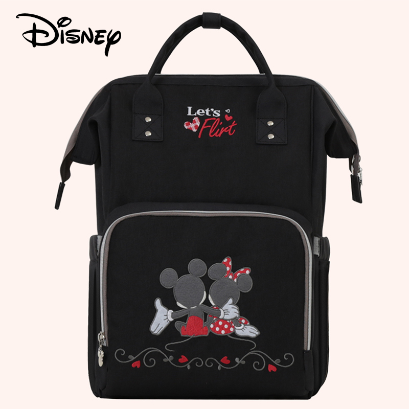 Disney Baby diaper bag Maternity Nappy usb Heating stroller bags baby care Mummy backpack Insulation bag