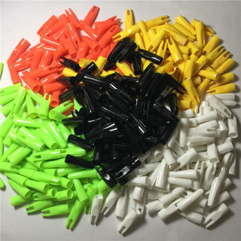 "1000pcs / ID 5 / 16 ""arrows for hunting archery arrow nocks plastic outwear tail  of the arrow cone used for OD 8mm wood arrows"