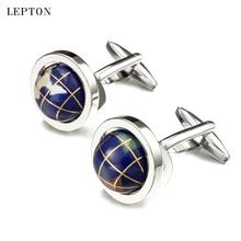hot deal buy lepton novelty globe earth cufflinks high quality rotatable globe planet earth world map cuff links for mens shirt cuff cufflink
