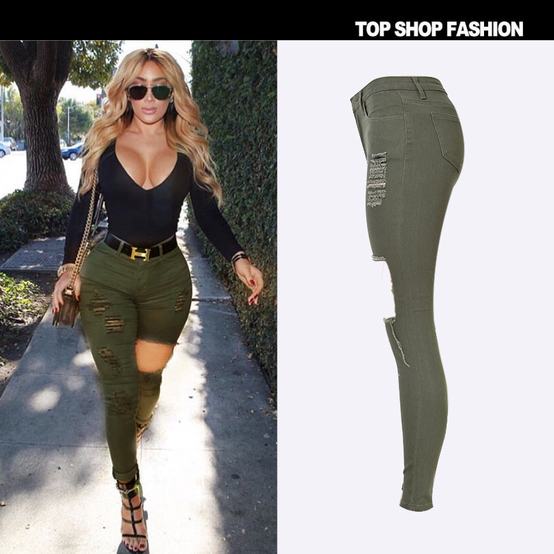 Womens skinny green jeans – Global fashion jeans collection