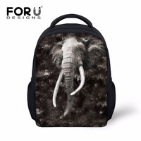 FORUDESIGNS Cool Toddler Kids Elephant Backpack Small 3D Tiger Head Preschool Bookbag Mini Child Baby Backbag
