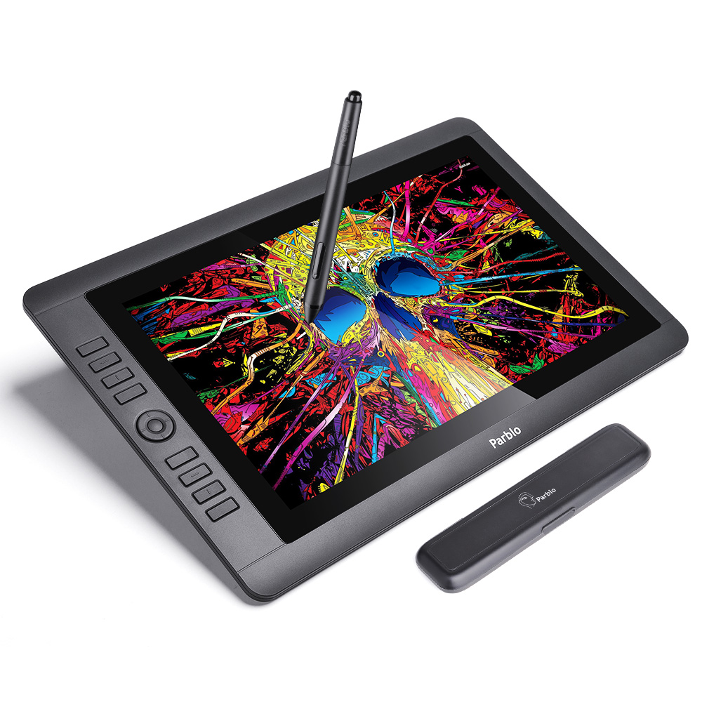 Parblo Coast16 15.6 IPS TFT LCD 1920x1080 Graphic Tablet Drawing Monitor Battery-free Passive Pen 8192 Levels Pressure parblo coast10 10 1 ips art drawing graphic monitor one hand mechanical gaming keyboard clip studio paint pro manga studio