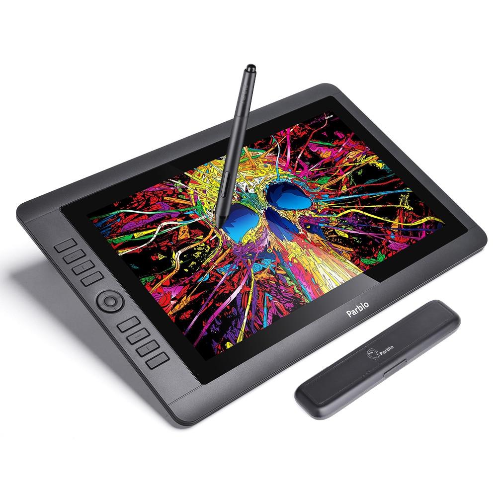 Parblo Coast16 15.6 IPS TFT LCD 1920x1080 Tablette Graphique Dessin Moniteur Batterie-livraison Passive Stylo 8192 niveaux Pression
