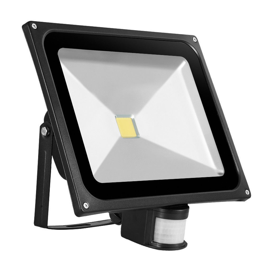 2PCS IP65 Waterproof 50W COB Led Flood Light Spotlight AC85-265V Led Outdoor Street Lighting Pir Flood Light with Montion Sensor led flood light street tunel lighting floodlight ip65 waterproof ac85 265v led spotlight outdoor lighting lamp