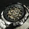 Winner Skeleton Mechanical Watch Luxury Men Black Waterproof Fashion Casual Military Brand Sports Watches Relogios Masculino