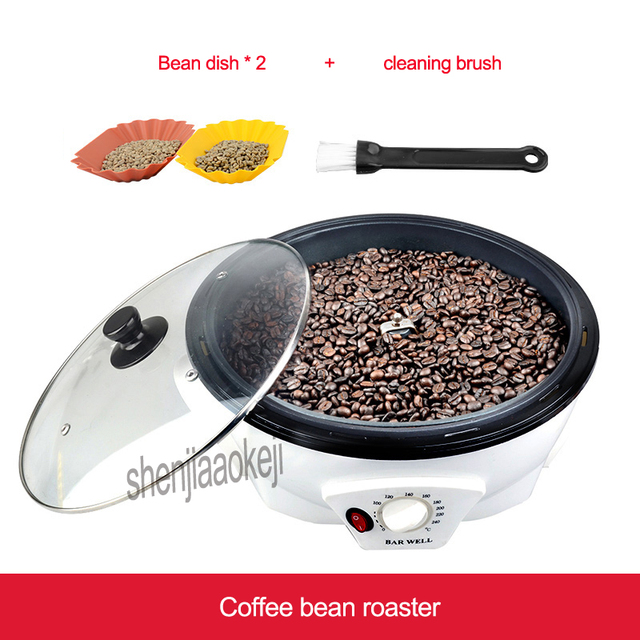 Commercial Coffee bean baking machine Coffee bean roaster machine Non-stick pan Home roasting machine Mini Baking tool 220-240v