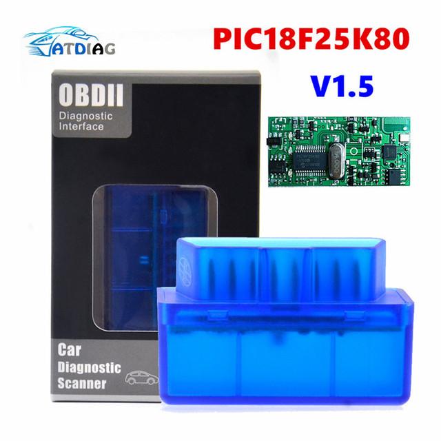 Really V1.5 Super MINI ELM327 Bluetooth ELM 327 PIC18F25K80 Version 1.5 OBD2 / OBDII for Android Torque Car Code Scanner