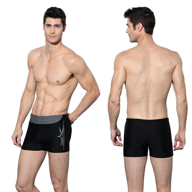 1af56512b 2017 Plus Size Top Quality Men Swimwear Spandex Swimming Trunks Slim Boxer  Swimsuit Shorts Professional Sports Bathing Suit 3XL