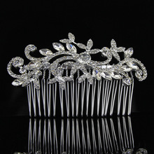 Free shipping Rhinestone and crystal bridal accessories Vintage style hair comb