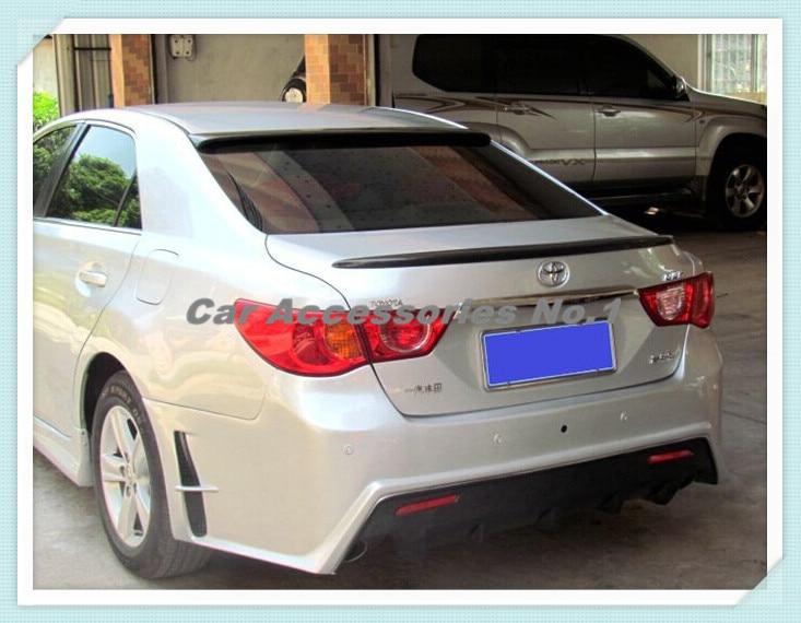 Carbon Fiber CAR REAR WING TRUNK SPOILER FOR Toyota Reiz Mark X 2010 2011 2012 2013 2014 2015 by EMS