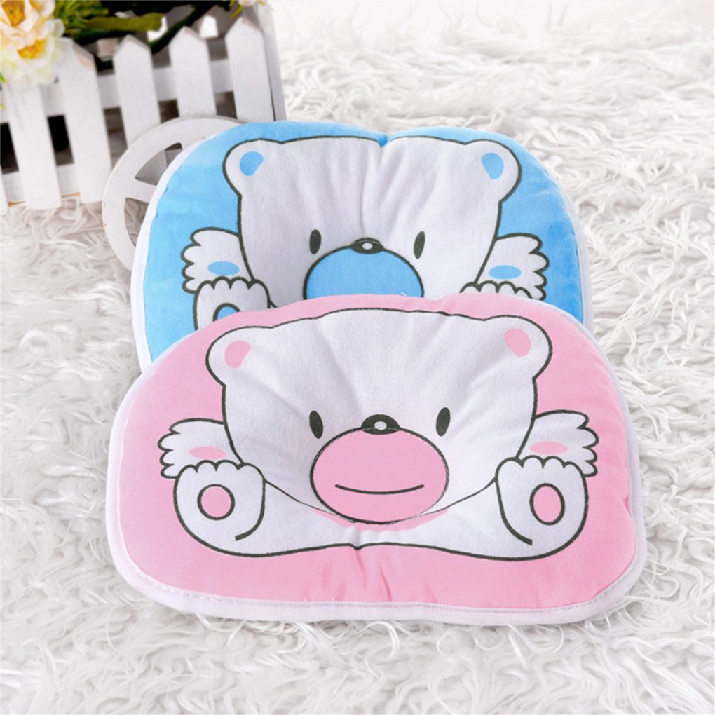 1PC Cartoon Cute Bear Soft Pillow Newborn Infant Baby Support Cushion Pad Prevent Flat Head