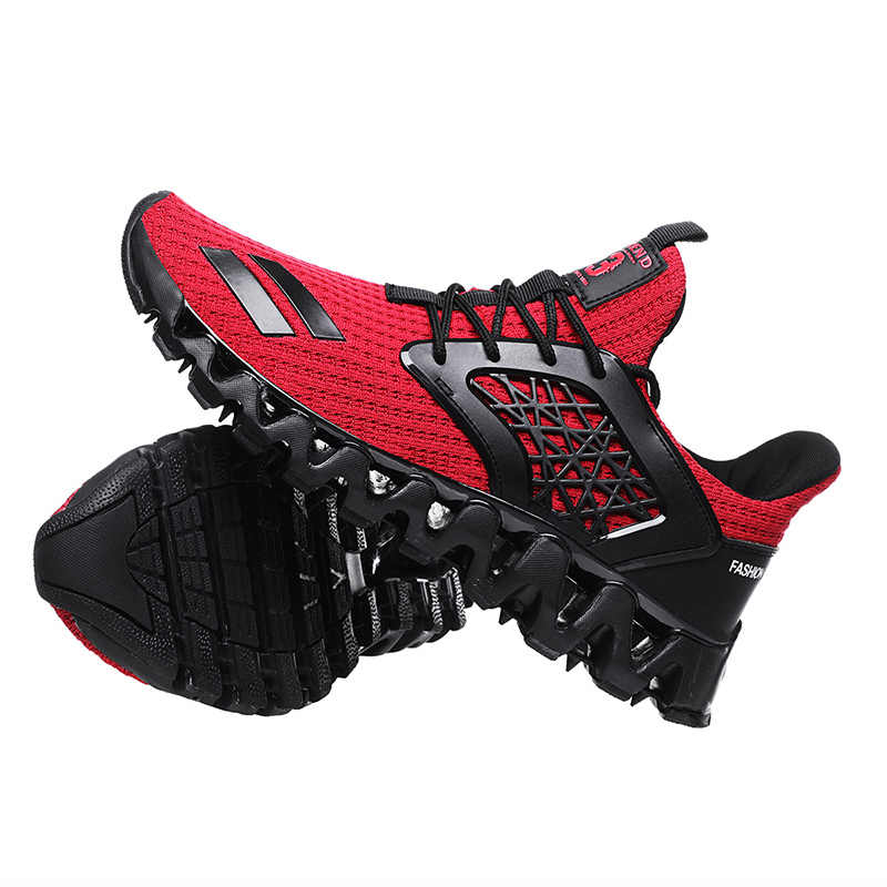 Stylish Four Seasons Running Shoes For Men Air Breathable Lightweight Sports Shoes Black Red Male Gym Sneakers Betis Zapatillas