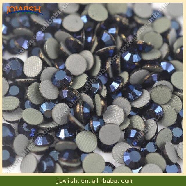 100 Gross   bag SS20 Metallic blue colour Hot Fix FlatBack Rhinestones  machine cut iron-on garment crystal stone gliter acdbaa95611e