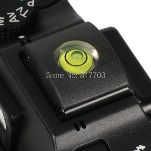 Hot DSLR 1PCS/LOT Camera Bubble Spirit Level + Hot Shoe Protector Cover for Nikon Canon Casio Fuji Samsung