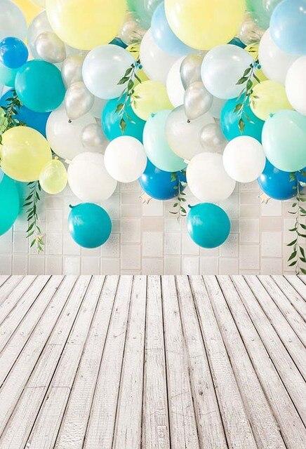 Vinyl Balloons Photography Background Wood Floor Children