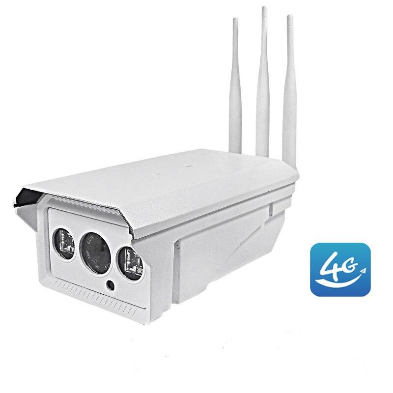 1080P HD 4G 3G Sim Card Wireless IP Camera Outdoor Infrared Max 128G SD Card Video Record IR Night Vision Onvif CCTV P2P Monitor