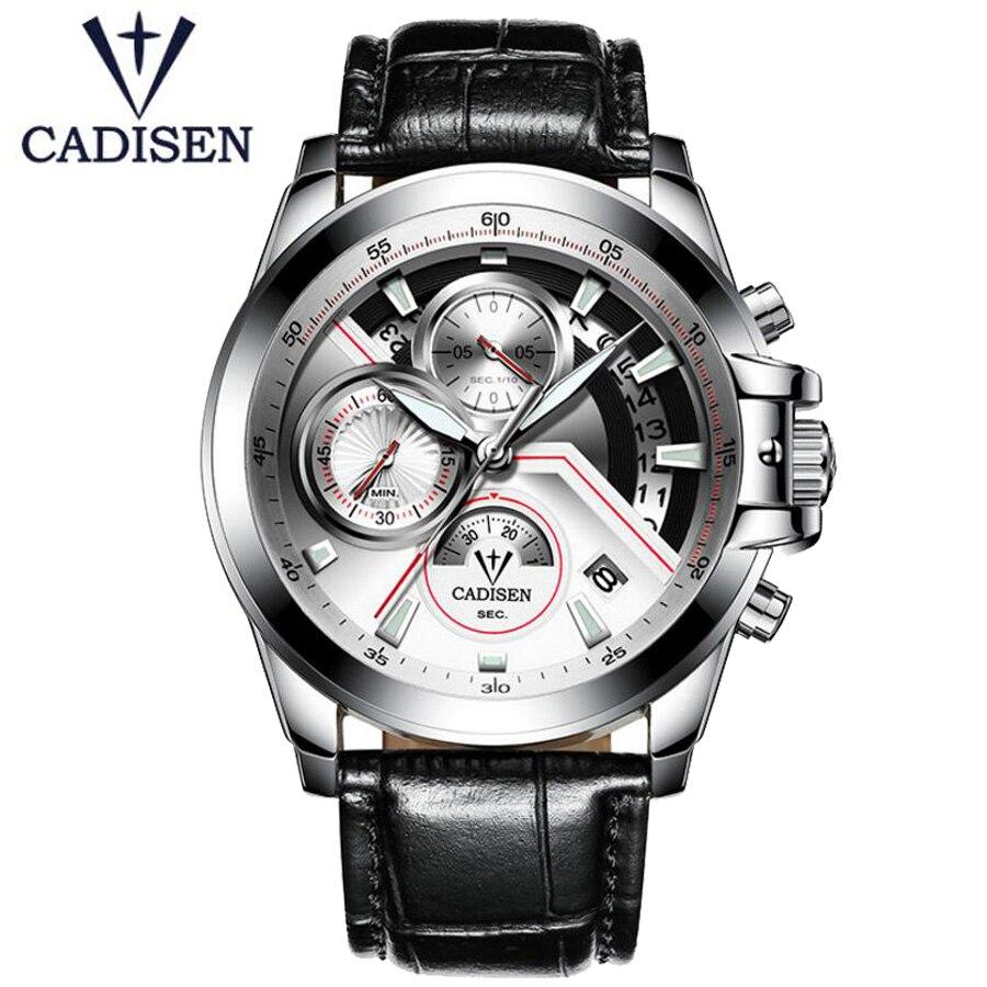 98d1e6ded8be Comprar Reloj de pulsera militar para hombre con correa de cuero de marca  de lujo de cadenete 2018 Online Baratos