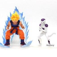 Аниме Dragon Ball Z Супер Saiyan Сон Гоку и Фриза ПВХ Цифры Коллекционная модель игрушки 2 шт./компл.