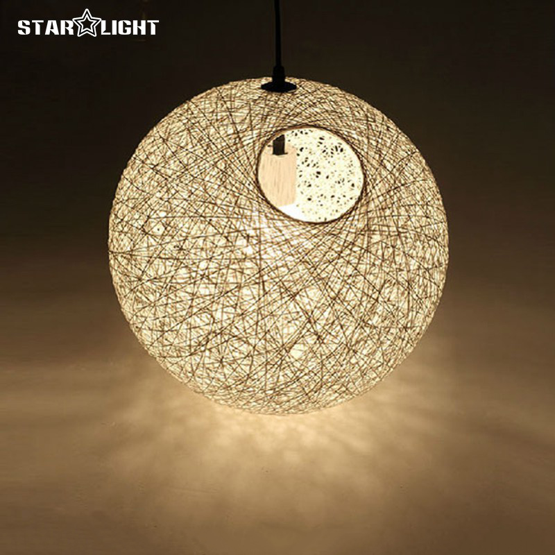 Diameter 20cm 90cm pendant lights hanging lamp multiple colors diameter 20cm 90cm pendant lights hanging lamp multiple colors christmas lampshade linen woven ball shade pendant lamp cealed in pendant lights from lights aloadofball Image collections