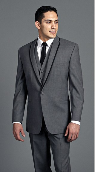 Groom S Wear Charcoal Gray Notch Lapel Tuxedo Wedding Suits For Men Best Man 3 Peices Jacket Pants Vest Tie In From Clothing