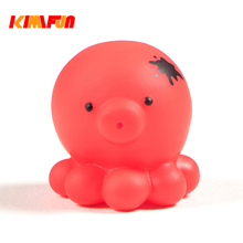 1pcs Swimming Pool Water Toy Baby Bath Toys Cute Girl Boy Gift Rubber Race  Animal Set 0-12 Months Floating Rubber octopus