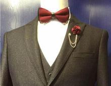 2017 slim fit Black Business Best Man Suits Classic Wedding Suits For MenGroom Suit Tuxedos Blazers Retro gentleman 3 Piece
