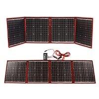 Dokio 160 Вт (40 Вт * 4) солнечная панель 12 В/18 в Гибкая Foldble Солнечная батарея с usb разъемом портативный комплект для солнечной батареи для лодки/
