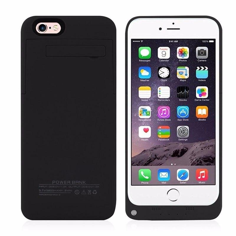 imágenes para 2017 nuevo 3200 mah para apple iphone 6 6s caja de batería de reserva externa caso de la energía recargable del teléfono móvil del envío gratis