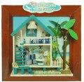 238-5 Hongda diy miniaturas para decoração de casas de Férias em miniatura casa de bonecas de madeira crianças presentes frete grátis