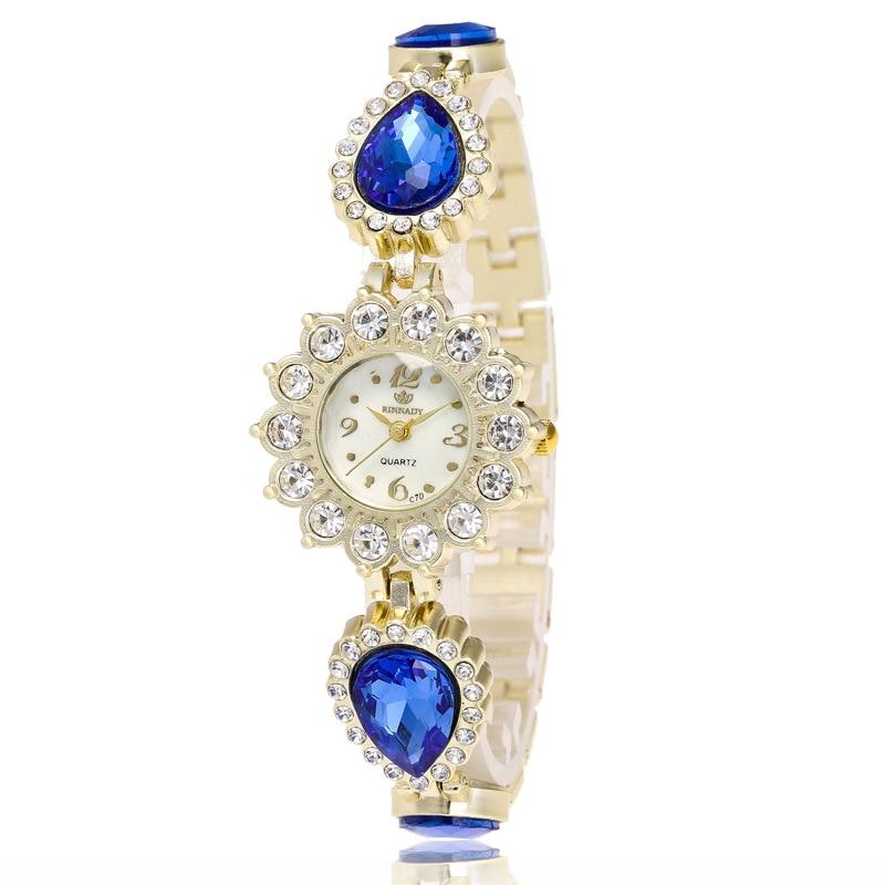 Fanshion Quality Crystal Diamond Bracelet Quartz Watches Woman Watches 2017 Brand Luxury Ladies Wrist Watches For
