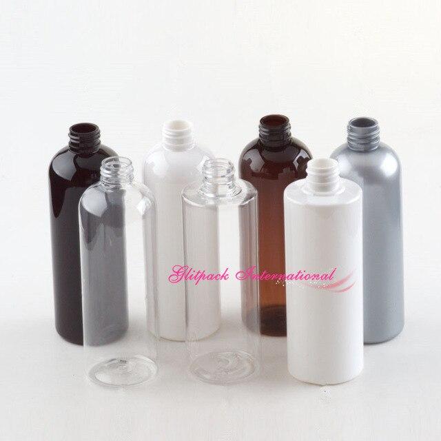 300ml butelka wielokrotnego napełniania złota pompa PET puste butelki na szampon mydło dozownik z pompką srebrna pokrywa plastikowa butelka 10oz perłowy szary