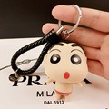 Crayon Shin Chan Toys Famous Cartoon Figures Molds Cute Anime Keychain Car Key Chain For Men Women Kids