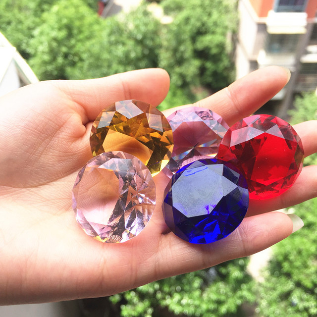 30mm Crystal glass Diamond Home Decor  ornaments FengShui Ornaments Decorative Ball For wedding miniatures Accessories Gifts 2