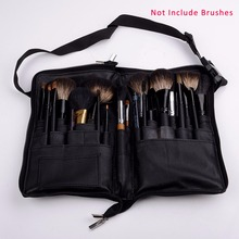Soft Make up 32 Pockets Paintbrushes pincel maquillaje Make Up Bag Black Brush Case Cosmetic Leather Case (no makeup brush)