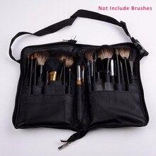 Soft Makeup Brush Set Case Cosmetic Leather Case with 32 Pockets Paintbrushes pincel maquiagem Make Up Bag Black (no brush)