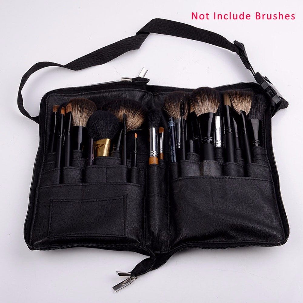 Soft Makeup Case 32 Pockets Paintbrushes pincel maquiagem Make Up Bag Black...