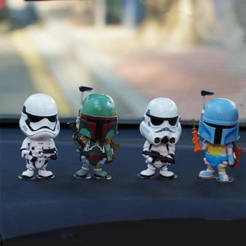 Carro Ornamento Para Figura de Ação de Star Wars Stormtrooper Painel Interno de Automóveis Balançando A Cabeça Da Boneca Acessórios de DecoraçãoOrnamentos   -