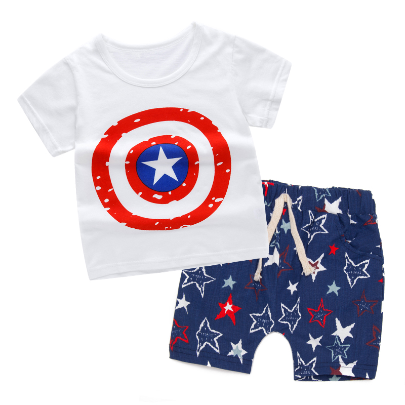 Children Clothing Set Summer Toddler Boys Girls Clothes Kids Short Sleeve t-shirt+shorts 2pcs Set Cartoon Pattern boys Clothes рюкзак polar polar po001buiqj49