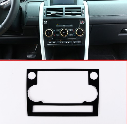 Gloss Black ABS Chrome Plastic Center Air Conditioning Panel Cover Trim For Land Rover Discovery Sport 2015 2016 2017 2018 in Car Stickers from Automobiles Motorcycles